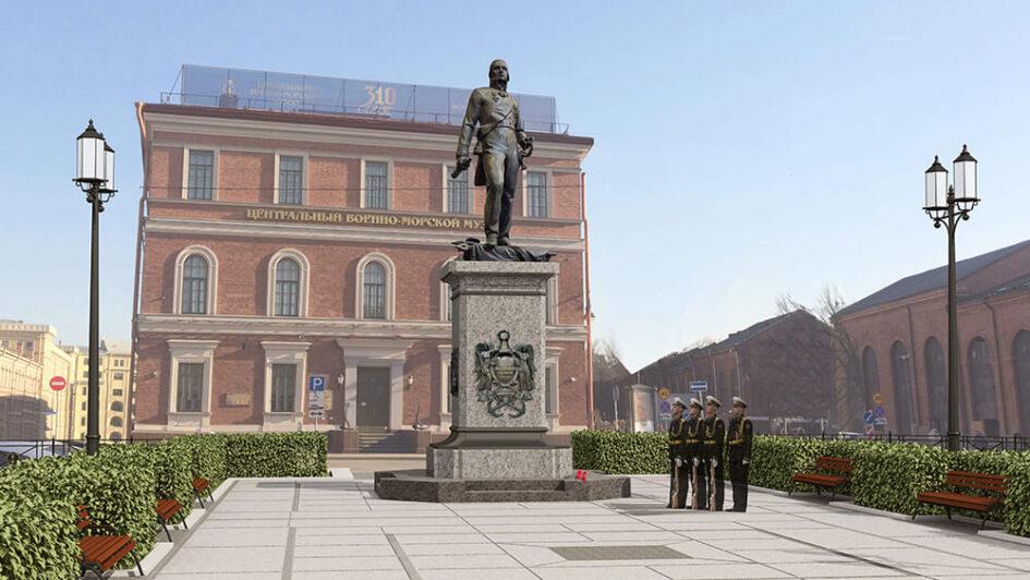 Памятник выдающемуся василеостровцу адмиралу Федору Ушакову установят в створе Благовещенского моста