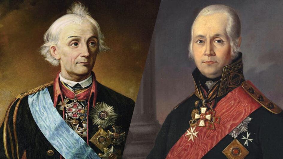 Флотоводец Ф-Ф. Ушаков и полководец А-В-Суворов — национальное достояние России.